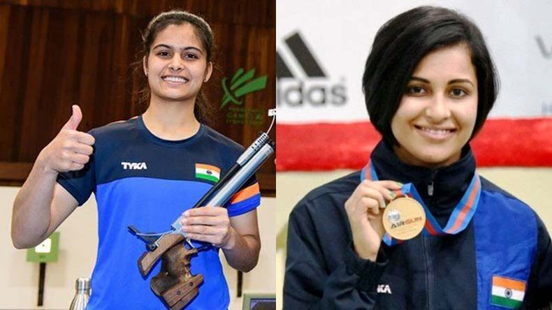 commonwealth games 2018 16 year old manu bhaker bags gold heena