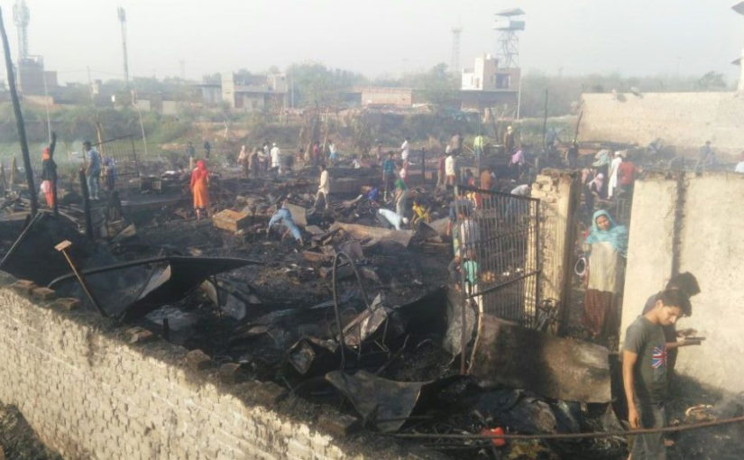 50 shanties gutted in fire at Rohingya refugee camp in Delhi's Sarita Vihar