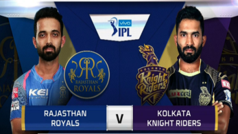 Rajasthan royals led by their skipper Rahane take on Dinesh Karthik's Kolkata knight Riders in Jaipur.