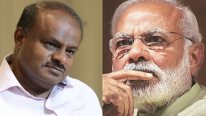Kumaraswamy,Modi,Kumaraswamy swearing in,Kumaraswamy oath taking ceremony,Congress,JDS,Modi congratulates Kumaraswamy,Parameshwara,Bengaluru,Rahul Gandhi,Sonia Gandhi,national news,latest news