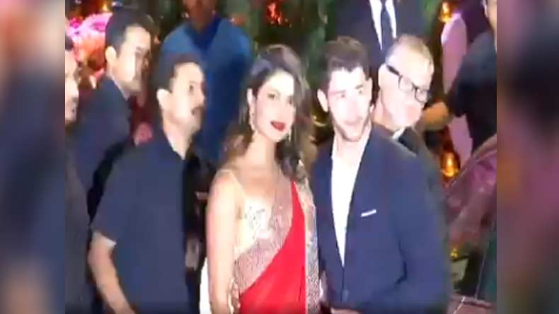 Priyanka Chopra Akash Ambani Mehandi Party,Priyanka Chopra at Akash Ambani Mehandi Ceremoney,Akash Ambani, Shloka Mehta,Akash Ambani pre-wedding party,Akash Ambani Mehandi,Shloka Mehta Mehandi,Akash Ambani Shloka Mehta Mehandi Ceremoney, Mukesh Ambani,Priyanka Chopra,Nick Jonas,entertainment news,latest news