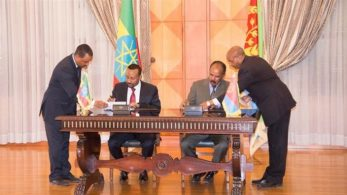 In a historic agreement, summit between Eritrea's President Isaias Afewerki and Ethiopia's Prime Minister Abiy Ahmed marked the 1st meet in Eritrea's capital, Asmara