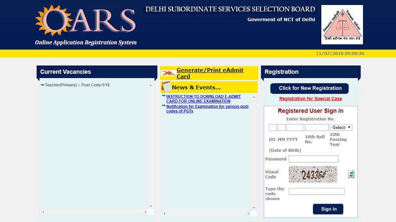 dsssbonline.nic.in, DSSSB Recruitment 2018 Notification, DSSSB Recruitment 2018, DSSSB Recruitment, Delhi, Delhi Jobs 2018, Delhi Government Recruitment 2018, Delhi Subordinate Services Selection Board, Delhi Subordinate Services Selection Board jobs 2018