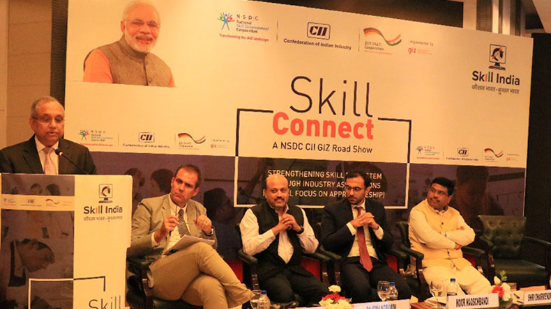 National Skill Development Corporation,Dharmendra Pradhan,NSDC,CollaboratioConfederation of Indian Industry,CII,Deutsche Gesellschaft für Internationale Zusammenarbeit,GIZ,Skill Connect,Road show,Skill Development