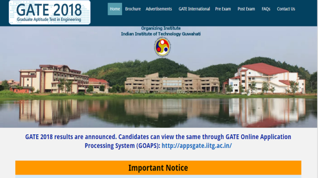 Gate 2019 Result Photo: IIT Madras To Conduct GATE 2019 Examination, Check Out