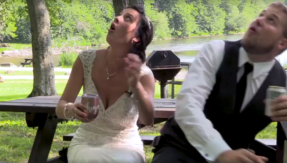 Watch newly married couple near death experience
