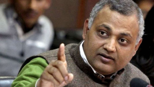 AAP MLA Somnath Bharti booked for hurling abuses at female anchor