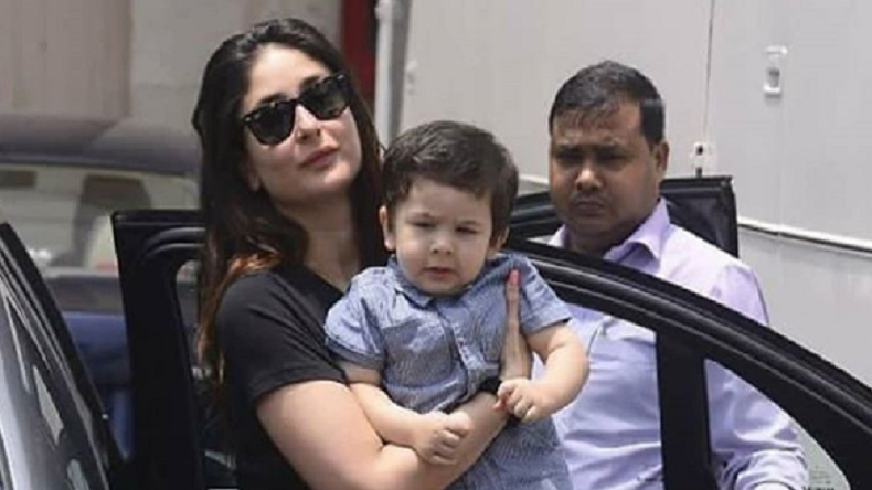 Sun-kissed Taimur Ali Khan looks like a blueberry cheese cake in this photo with mommy Kareena