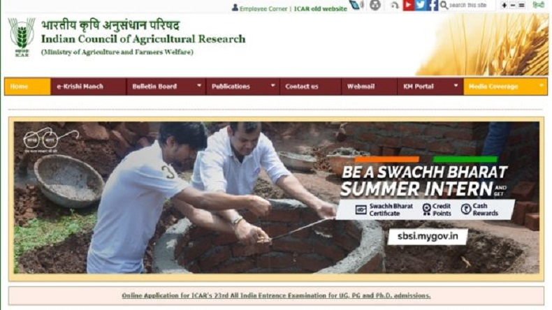 indian council of agricultural research, ICAR , admit cards, aieea, aieea ug/pg/srf exam, cmcm, headlines, india, latest news, ICAR Admit card 2018 released