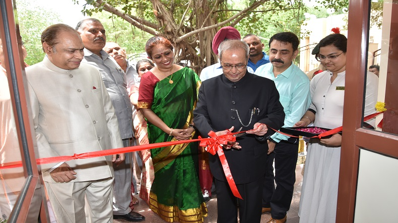 Former President Pranab Mukherjee inaugurates newly constructed hostel at Janki Devi Memorial College
