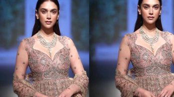 Aditi Rao Hydari looked beautiful in Reddy's creation