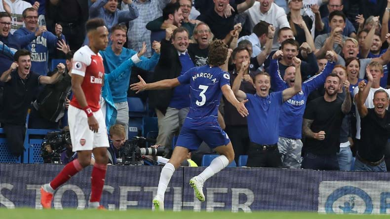 chelsea vs arsenal, chelsea goals, arsenal goals, premier league matches, premier league results, eden hazard, aubameyang