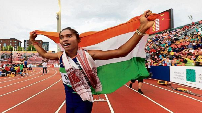 Hima Das, Hima Das at Asian Games, Asian Games 2018, Hima Das Athletics, Hima Das racing, Hima Das world record, Hima Das, asian games Indonesia, Asian Games jakarta
