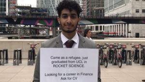 rocket science, job hunt, canary wharf, refugee, rocket science, rocket scientist, refugee scientist, aerospace engineering