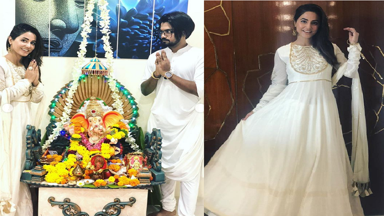 Hina Khan Looks Beautiful As She Celebrates Ganesh Chaturthi With