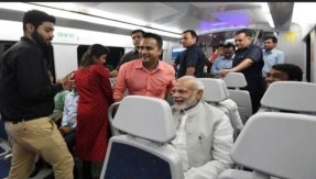 PM Modi takes Delhi Metro from Dhaula Kuan to reach inaugural ceremony of India International Convention in Dwarka, watch video