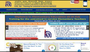 NIOS D.El.Ed 2nd Exam Admit Card out, download @ nios.ac.in