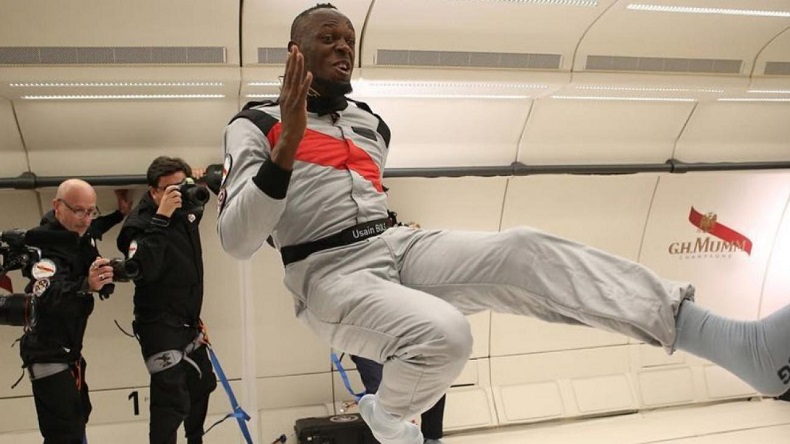 Watch: Usian Bolt now races in zero gravity!