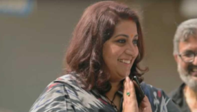 Smriti Irani gets emotional after visiting her first home in Gurugram, watch video