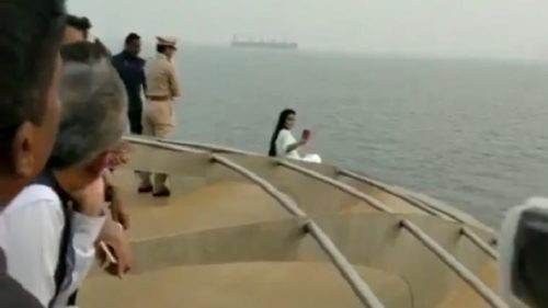 Devendra Fadnavis wife apologises for taking selfie from ship-edge, says she didn't violate safety norms on board Angria