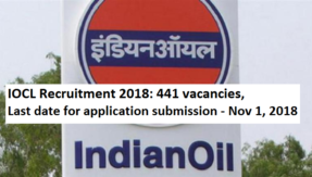 IOCL Recruitment 2018: 441 vacancies, apply for Trade, Technician Apprentice by November 1