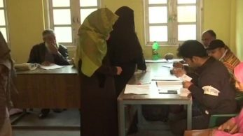 The polling began at 6:00 amand will continue till 4:00 pmat 300 polling stations across the state. Some 365 candidates are in the fray for 96 wards of 8 urban local bodies, reports said.