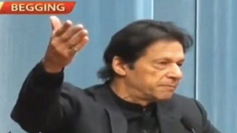 Pakistan's state-run news channel writes Begging instead of Beijing during Imran Khan's speech in China, gets trolled