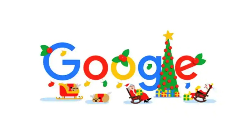 Christmas, Merry Christmas, Happy New year, compliments of the season, Happy Christmas, Google Doodle, Google Doodle wishes Merry Christmas, Google Doodle wishes happy holidays, happy holidays, Hanukkah, Santa Claus, wish you a merry Christmas, Christmas carols