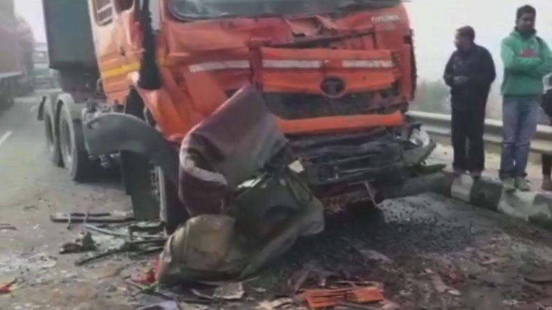 rohtak accident, haryana, 50 vehicle pile up, dense fog, Rohtak-Rewari highway, regional news