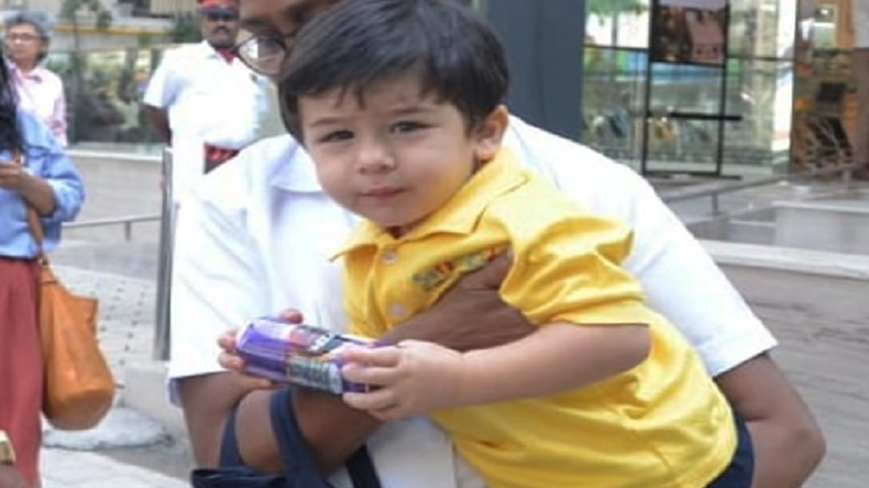 Taimur Ali Khan's lion bag has his name on it and we can't stop smiling!