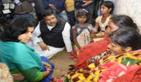 Dharmendra Pradhan meets family of Khurda man who committed suicide over governmental corruption, says BJD govt promoting commission scourge