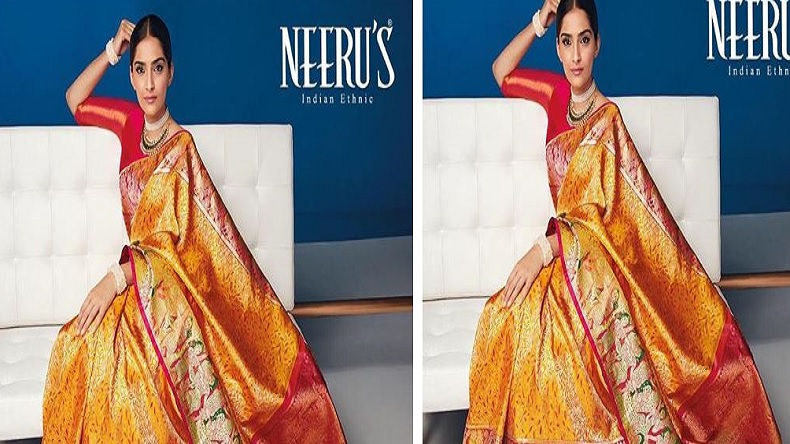 Sonam Kapoor, Sonam Kapoor red orange kanjeevaram saree, Sonam Kapoor kanjeevaram saree photos, Sonam Kapoor instagram photos, Sonam Kapoor new photos,