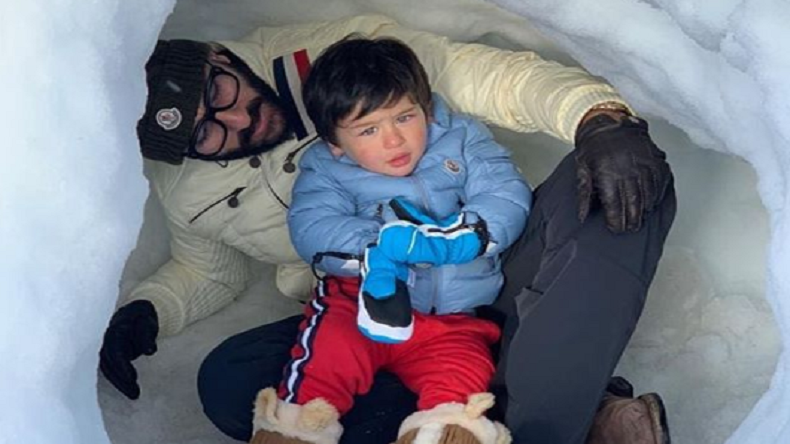 taimur ali khan, saif ali khan, kareena kapoor khan, taimur in switzerland, saif kareena taimur, saif kareena taimur photos, saifeena swiss vacation, saif kareena taimur switzerland photos, saif kareena latest