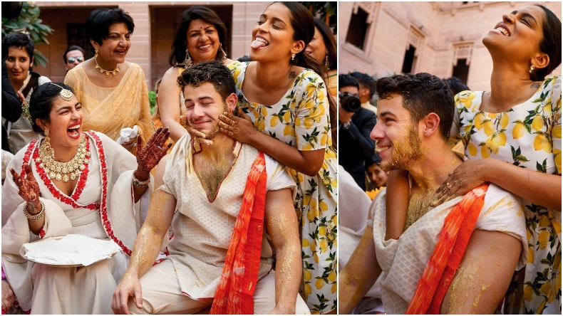 YouTuber Lilly Singh shows no mercy on Nick Jonas during haldi ceremony on Priyanka Chopra's request, see photos