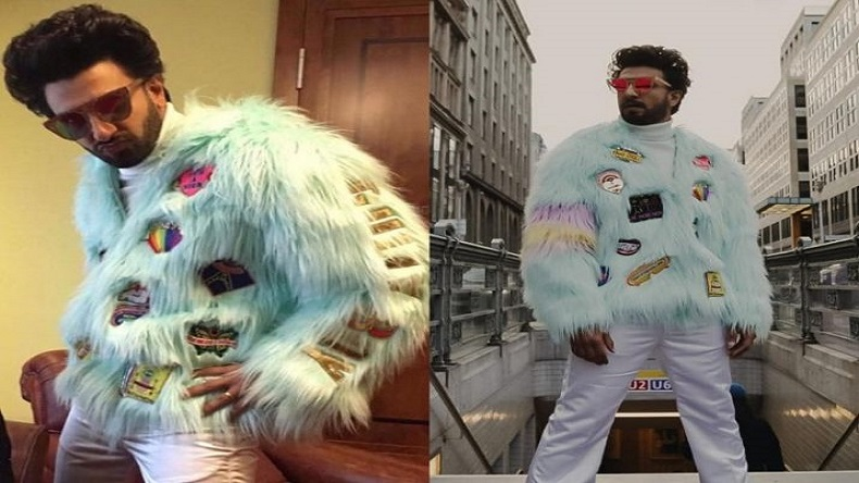 Ranveer Singh fur jacket, Deepika Padukone comments on Ranveer Singh's fur jacket, Gully Boy promotions Berlin, Ranveer Singh fur jacket look Berlin