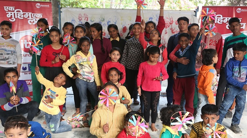 iTV Foundation, iTV Foundation celebrates eco-friendly Holi, Noida-based NGO Sai Kripa, iTV network