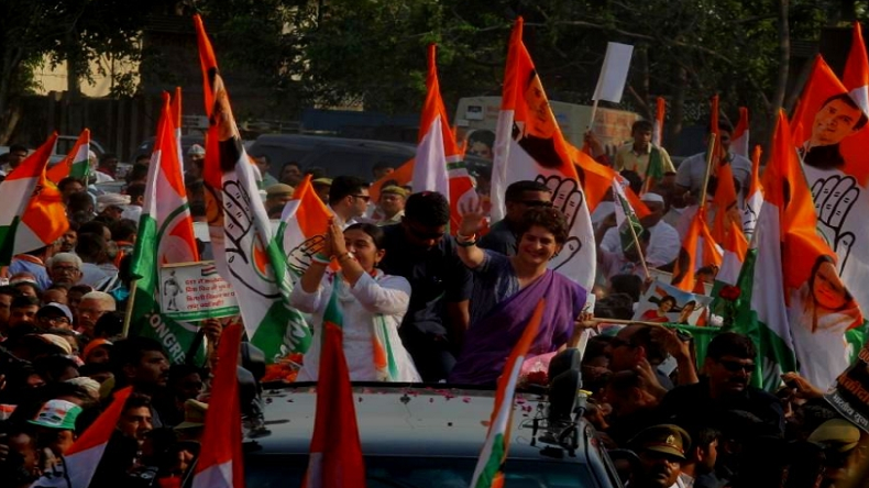 Priyanka Gandhi in Ghaziabad: Congress general secretary holds roadshow with candidate Dolly Sharma