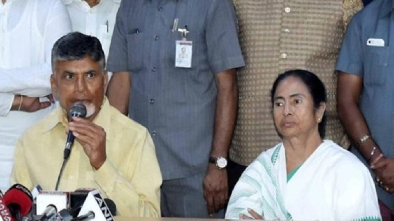 Exit poll predictions shake Opposition camp, Chandrababu Naidu flies West Bengal, meets Mamata Banerjee