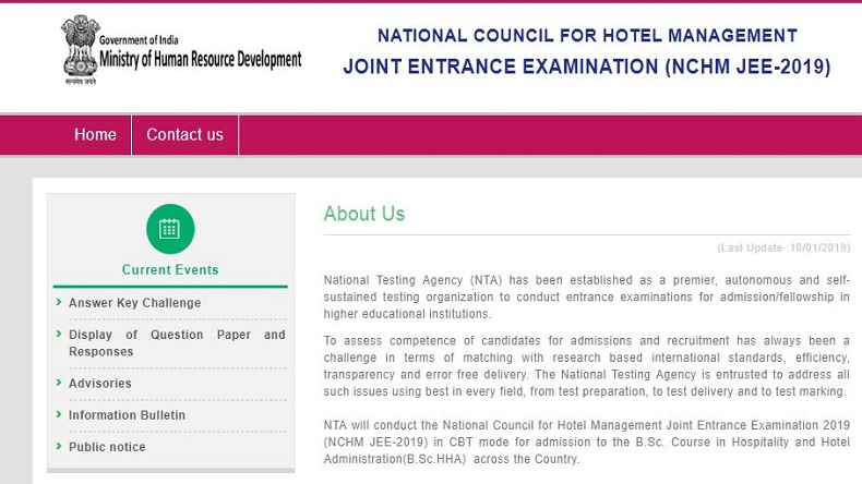 NTA NCHM JEE result 2019 tomorrow @ ntanchm.nic.in: Check steps to download here