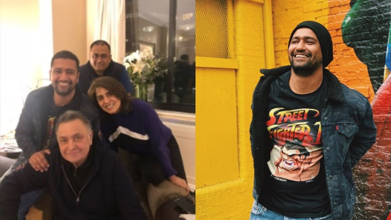 After Deepika Padukone, Vicky Kaushal visits Rishi and Neetu Kapoor in New York