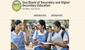 Goa class 10th Result 2019 @ gbshse.gov.in