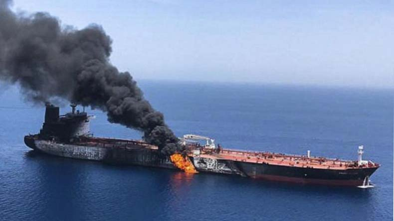 Attack on oil vessels in the gulf of oman deepens the gulf crisis.