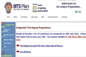 BITSAT Result 2019, BITSAT Result Steps to check result, BITSAT Result 2019, bitsadmission.com, Birla Institute of Technology & Science Pilani,