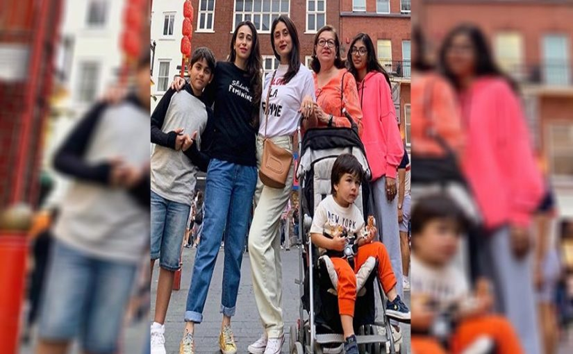 Karisma Kapoor shares another picture with Kareena Kapoor Khan, Taimur and family on her social media