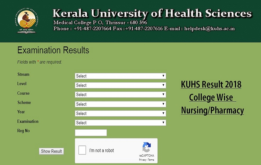 KUHS Results 2019, Kerala University, Kerala University of Health Science, Kerala University of Health Science results 2019, Kerala University of Health Science BSc Nursing supplementary results