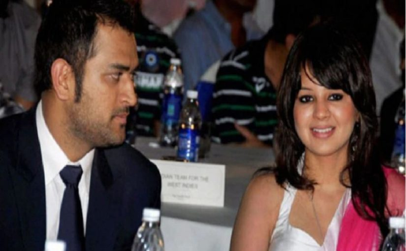 File photo of MS Dhoni and his wife Sakshi Dhoni.