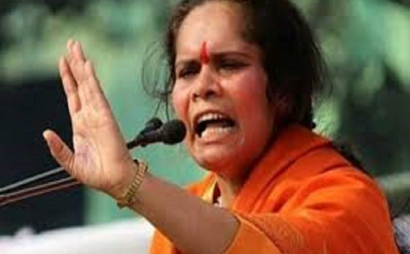 Sadhvi Prachi asks Kanwariyas to boycott Muslim shopkeepers and make way for Hindu employment