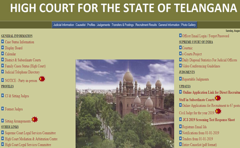 Telangana High Court Recruitment 2019: Notification released for 1,539 vacancies, apply now @hc.ts.nic.in