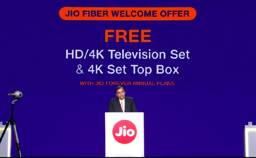 Reliance AGM 2019: Free 4K LED TV, Set-Top-Box available for Jio Forever Plan subscribers, says Mukesh Ambani