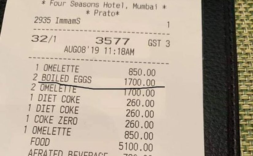 After Rahul Bose's Rs 442 banana bill, Mumbai hotel charges Rs 1700 for 2 boiled eggs